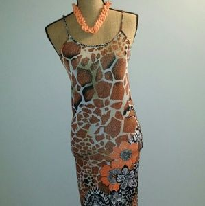 Animal Print long dress