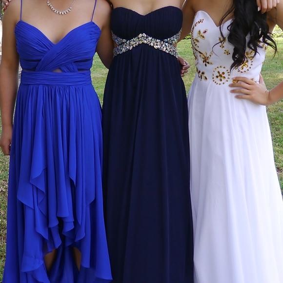 Trixxi Dresses | Macys Navy Prom Dress | Poshmark