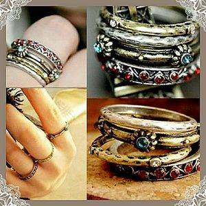 ❤Boho Stackable Ring set!❤