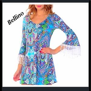 Bellino Clothing Dresses & Skirts - Bellino paisley fringe dress.