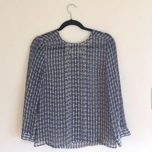 J. Crew Tops - J. CREW Patterned Blouse