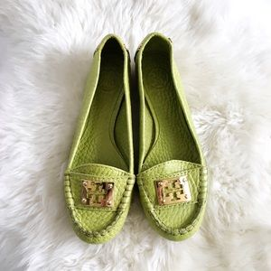 Tory Burch Shoes - Lime Green Tory Burch Loafers