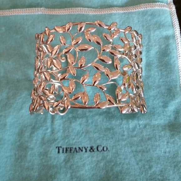 033c7d6f6 Tiffany & Co. Jewelry | Tiffany Paloma Picasso Olive Leaf Cuff In ...
