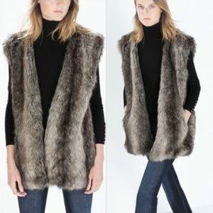‼️last chance‼️Zara faux fur vest
