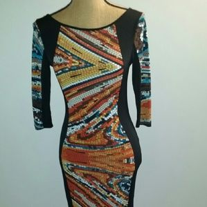 Dresses & Skirts - Multi colored Body Con dress