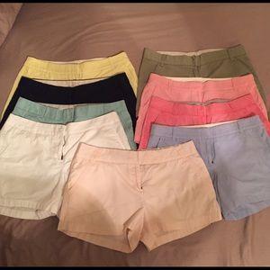 J. Crew Pants - LOT of 9 ~ J. Crew Shorts