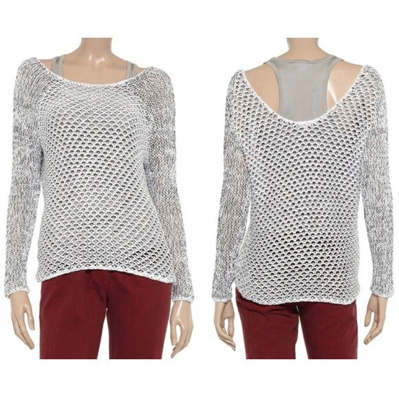 Helmut Lang Sweaters Open Knit Off The Shoulder Sweater M Poshmark