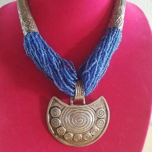 Super cool vintage tribal statement necklace!