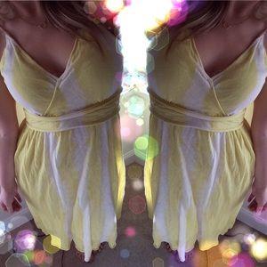 Anthropologie Dresses & Skirts - Anthropologie moth light dye yellow dress s