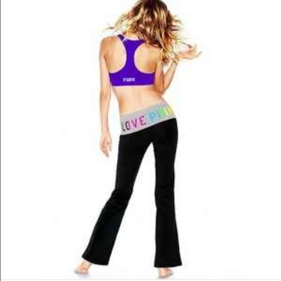 2cdebfbe3a Victoria Secret Pink Yoga Flare leggings. M_56e62e04c28456e8d0019d8a