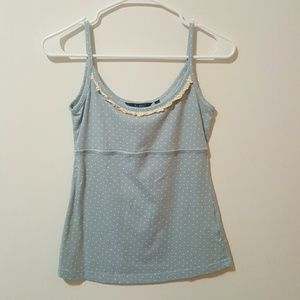 Blue and White Polka Dot Tank top #54
