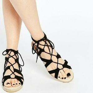 ASOS Shoes - ASOS Joan Lace-up Espadrille Sandals. 8. Black
