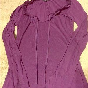 Gap XS purple stretch long sleeve top