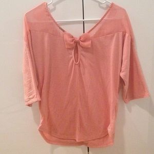Pale pink sequin top, size Medium.