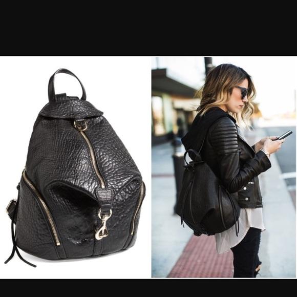 Rebecca Minkoff - Rebecca Minkoff Julian black backpack purse from ...