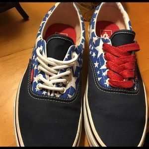 Vans Shoes - Red white and blue stars wonder woman vans shoes 5d621321f