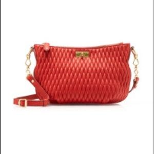 J Crew Quilted Baby Brompton Crossbody Bag - Red