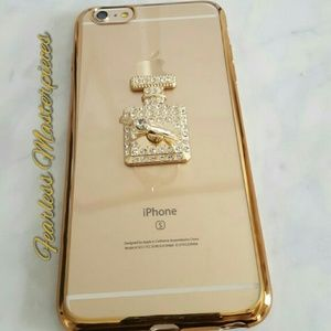 Accessories - Perfume bottle ring stand phone case