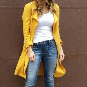 Mustard Trench Jacket