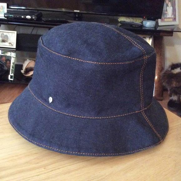 27f05949114a5 Helen Kaminski Accessories - Beautiful Helen Kaminski Dark Denim Bucket Hat!