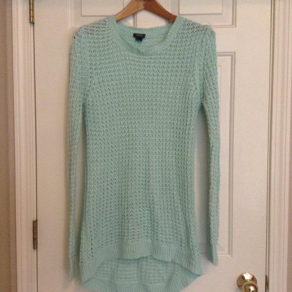 f2466abaafb Aqua Cable Knit Sweater Dress. M 56e6cdbd8f0fc40649002276