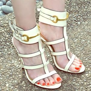 Ankle wrap heels