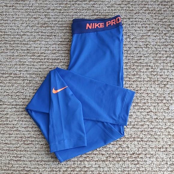 Nike Pants Nike bright blue Nike pro workout pants.
