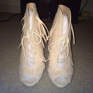 Shoe Dazzle Shoes - NEW Fringe booties