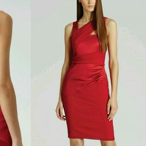 REISS Dresses & Skirts - REISS Hermione Red Wrap Dress sz10 $370