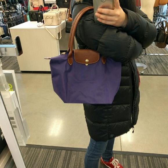 a816f4b2313f Longchamp Le pliage small nylon tote bag amethyst NWT