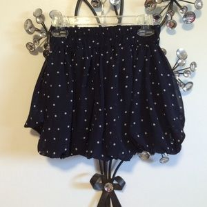Oasap Pants - Blue Polkadotted Poofy Shorts