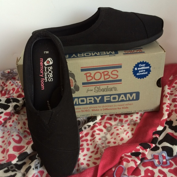 Skechers Shoes Bobs Memory Foam Black Poshmark