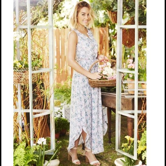LC Lauren Conrad - LC Lauren Conrad Floral Chiffon Maxi Dress from ...