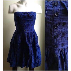 Tulle Dresses & Skirts - Tulle Sz Medium Strapless Blue Navy Full Dress