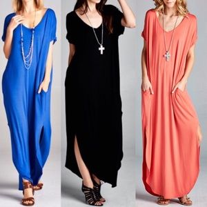 CHARLIZE solid boho dress - 2 colors