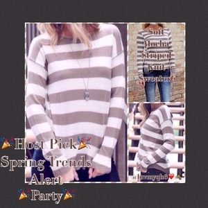 Sweaters - Soft Striped Knit Sweater🎉HP🎉
