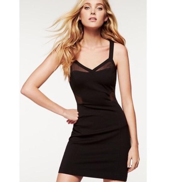 Express Dresses Short Black Dress With Mesh Cutouts 0 Poshmark