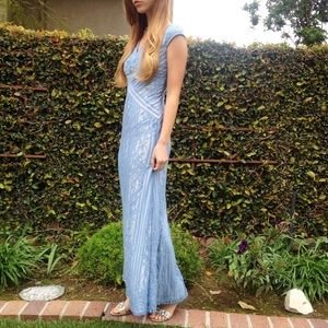 blue lace evening / prom gown