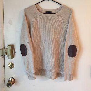 J. Crew Elbow-patch sweater
