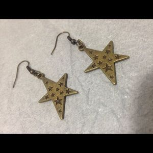 ❌final price❌ Bronze star earrings
