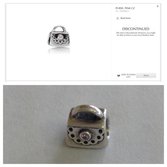 83c8f7b8d Pandora Pink CZ Sterling Silver Purse Charm. M_56e71557bf6df5fc2406421c