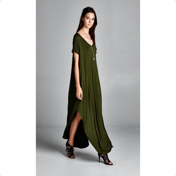 cd58070ed5 Dresses   Skirts - Oversized Olive T-Shirt Dress