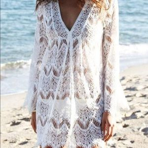 Other - Stylish lace bathing suit cover up New