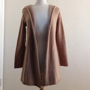 Camel colored long sleeve sweater cardigan. XS.