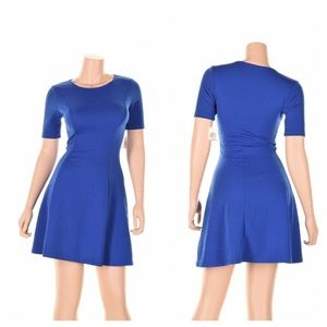 Bar III Dresses & Skirts - REDUCED❗️Bright Sapphire Short Sleeve Flare Dress