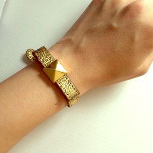 Kate Spade gold ribbon bracelet