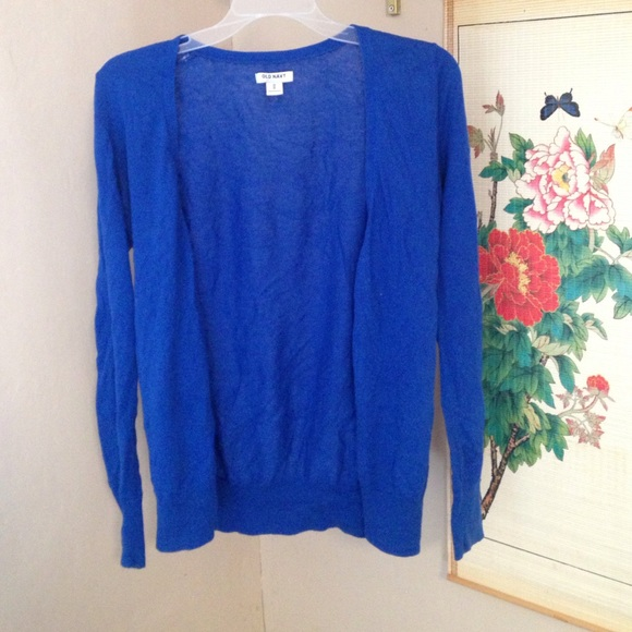 60% off Old Navy Sweaters - Old Navy Royal Blue Cardigan from ...
