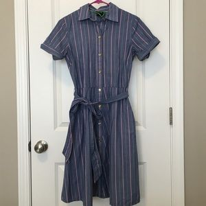 C.Wonder Blue Stripe Shirtdress