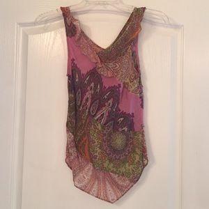 Anthropologie silk paisley top