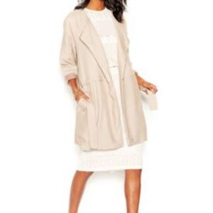 Pearly Sand Trench Pull Over Coat